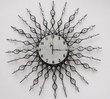 2013 stainless steel round shape custom metal bar wall clock