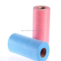 China factory Floor mops disposable non woven cleaning polyester viscose spunlace patient dry wipes