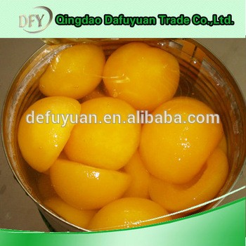 China Canned Yellow Peach Halves/Slices/Dices in Syrup/Water/Juice