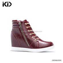 Custom made casual sneaker shoes women High quality comfortable wedge heel shoes and sneakers