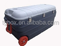 160L large capacity transport cooler box with wheels