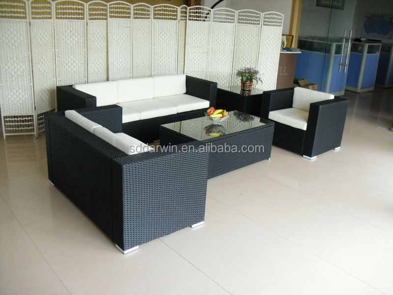Outdoor Synthetic Rattan Plastic Cane Sofa Set DW-SF024KD
