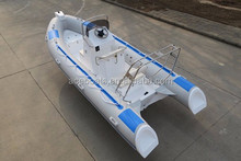 2017 high quality and best selling CE rib 520 rigid fiberglass hull inflatable boat! RIB boat
