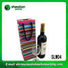 Color stripe packing paper wine bag in box, gift bag paper brand,wine bottle bags paper