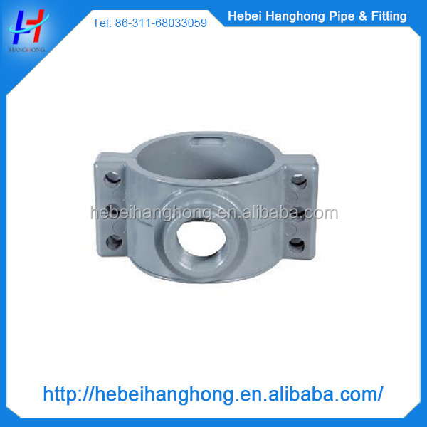 "110*2"" pvc pipe fitting saddle clamp, pvc fitting for plumbing"