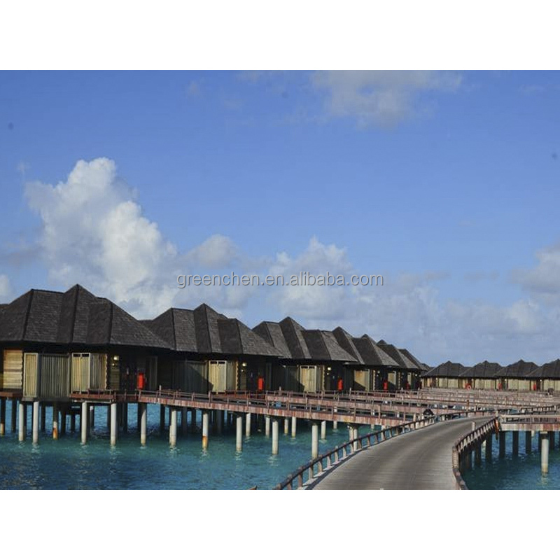 Maldives style prefabricated wooden houses