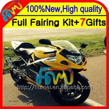 Body For SUZUKI GSX R750 2001 2002 2003 GSX-R750 Yellow black 8CL1129 GSXR 750 K1 GSXR750 01 02 03 GSXR-750 Fairing Yellow K1 K