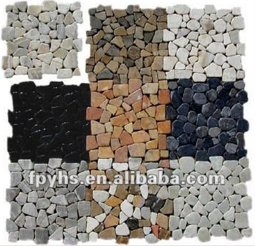mixed colors marble stone mosaic tiles