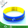 promotional item silicone wristbands for custom two color silicone bracelet rainbow debossed silicone bracelet