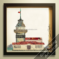 Istanbul Turkey Maiden Tower landscape painting turkish decor for wall decoration