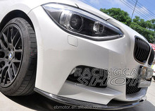 3D Style Real CARBON FIBER FRONT LIP SPOILER For BMW F20 1-SERIES M TECH M SPORT BUMPER 11-14 B118