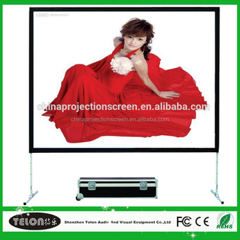 200 inch fast folding projector screen /portable fast fold projection screen factory 3D