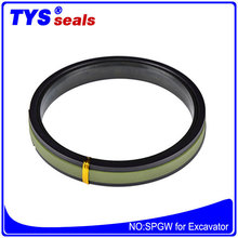 Full specification Hydraulic cylinder oil seals PTFE SPGW piston seals for excavator