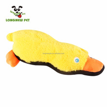 Factory price Funny Plush Duck Dog Toy Interactive Pet Toy Chew Durable With Squeaky Dog Toy