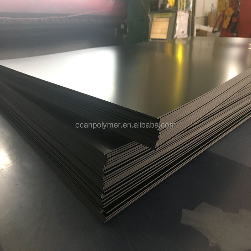 4*8 1mm <strong>Thickness</strong> Frosted Rigid Black Plastic PVC Sheet