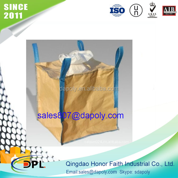 Hot sale 100% new virgin pp plastic used jumbo bag