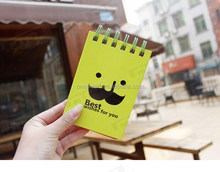 Cheap and Fashionable Yellow Cover Mini Spiral Notebook for Kids