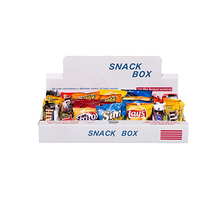 White Snack Display Box with Printed