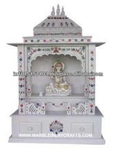 Super White Marble Mandir for Home Marble Indian Temple