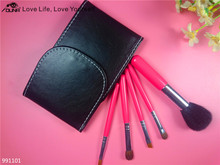 2016 New products 5pcs make up brush set with cosmetic bag easy carried makeup brushes sets
