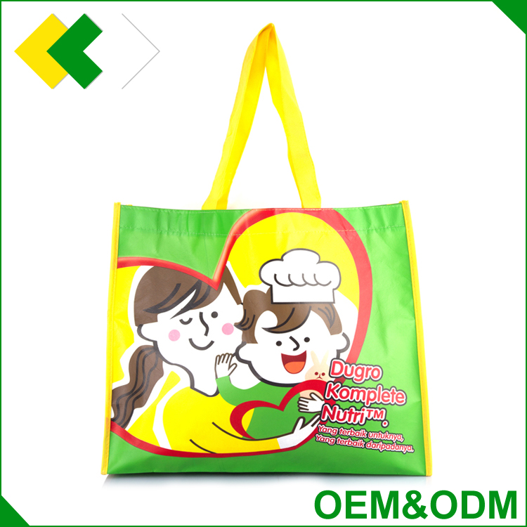OEM & ODM fashion printing promotion pp nonwoven bag promotional customized shopping laminated paper bag