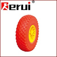 Pu foam wheel 400-8 wheelbarrow tubeless wheel puncture free tire 400-8
