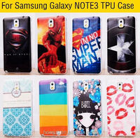 For samsung Galaxy Note 3 III Note3 Hot Painted Gel Case Back Cover Shell Cool Captain America Skull Flag Phone Cases Covers