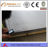 Mill finished 316 stainless steel checkered plate high quality