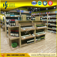 Wholesale solid wood wine display showcase for storage rack