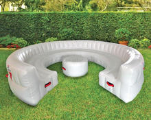 2016 new cheap inflatable sofa bed for relaxing/Giant Inflatable Outdoor Circular Couch for sale