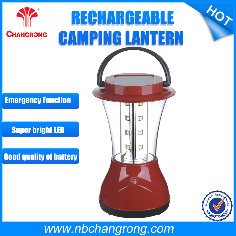 solar rechargeable lantern light with touch switch