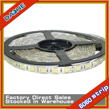 SMD 5050 60LED/M LED Strip Waterproof IP65 White Warm white Blue 5 Meter 300LED DC 12V Stripe CE RoHs New