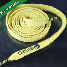 Custom logo printed shoe laces/shoelaces with metal tips