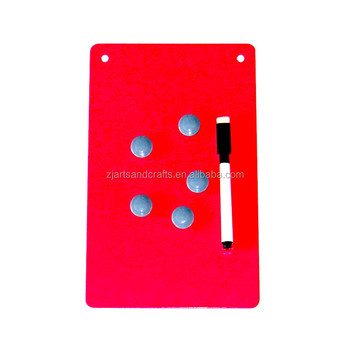 Metal Wall-mounted Magnetic Memo Board with Magnets and Pen