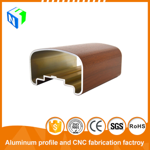 Wooden Grain Rectangular Outdoor Aluminium Profile / window&door frame / furniture / handrail