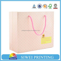 2015 custom luxury printed food grade recycled fashionable euro shopper paper bag customized for tea