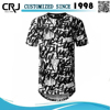 Custom All Over Sublimation Printing T-shirt, 100% Polyester T-shirt