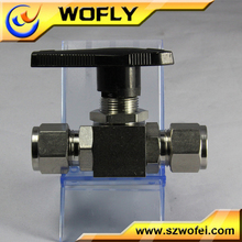 DN20 chemical resistant gas double union ball valve
