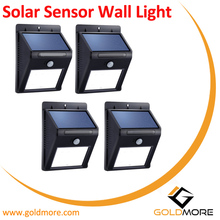 Solar LED Path wall light, Outdoor Garden Wall Yard Fence light, waterproof motion sensor solar wall light