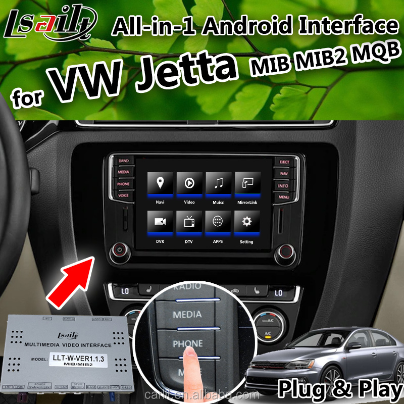 Lsailt Android Multimedia video Interface for Jetta Volkswagen 2014-2018 GPS&Navigation Box support carplay&android auto
