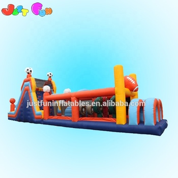 Cheap inflatable sport game obstacle course