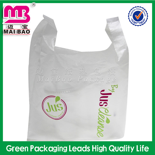 Customized printed high quality shopping t shirt carry for Cheap t shirt bags wholesale