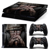 military design Skin Sticker for PS4 System for Playstation 4 Console