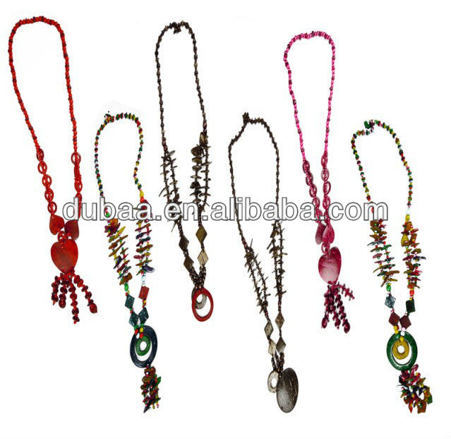 Fashion Jewelry 2013 Fashion Necklace Coconut Necklace,Wholesale Fashion Bead Chandelier Necklace with Charms Funky Punk