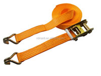 50mm ratchet tie down strap with double J hook