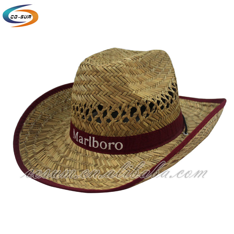 new man straw fabric design your own cowboy hat