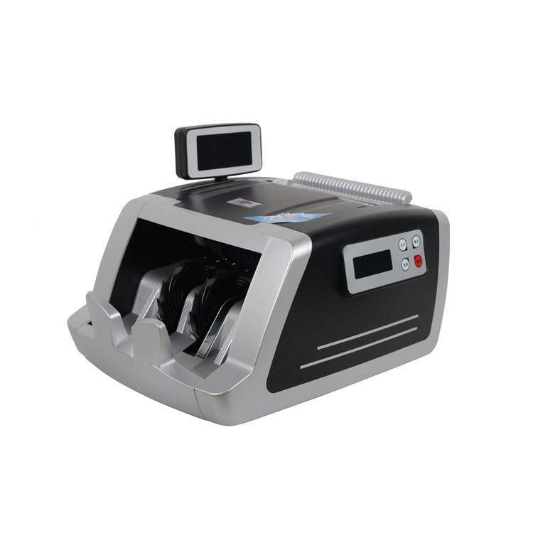 Portable intelligent bill banknote cash counter currency counting machine