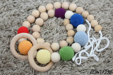 Wooden Bead Healthy Baby Wearing Teething Necklace Nursing Necklace