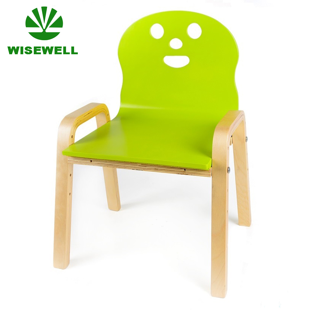 W-G-C1093 kids toddler bentwood chair in smile face shape