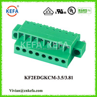 pcb mount terminal blocks KEFA KF2EDGKC-3.5 3.81 female connector